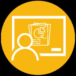 iconografia di avatar con presentazione multimediale